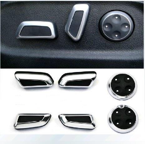 VW Volkswagen modified chrome seat adjustment knob button Button Switch For Tiguan CC Passat B7 AUDI A4 A5 A6 B8(China (Mainland))