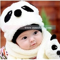 Winter baby hat child hat cotton hat baby hat scarf twinset