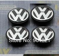 Freeshipping 4pcs 55mm 6N0 601 171 VW Jetta Golf Volkswagen Emblem Wheel Hub Center Caps Covers