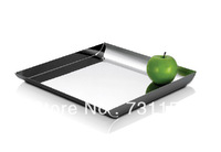 Bar restaurant kitchen square stainless steel coffee tray tea tray kitchen tray-2pcs/lot