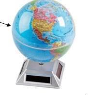 Free shipping New solar globe display wholesale solar rotating display Energy saving and environmental protection Turntable