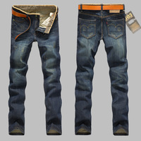 Full Length Jeans High Quality Free Shipping 2014 Hot Sale New Men's Fashion Spring Autumn Mid Distrressed Straight 9005
