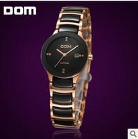 Hong Kong DOM ceramic female form, Korean fashion waterproof diamond watch, wholesale