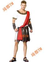 Halloween cosplay costumes performances for men adult, mens gladiator&samurai/warrior costume,roman caesar costume,free shipping