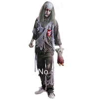 cos Halloween zombie costume, masquerade ghost mummy / ghoul horror show suits, wholesale, free shipping