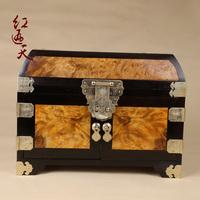 Red gold lauraceae plain jewelry box jewelry box mahogany wooden storage box gold phoebe jewelry box