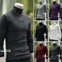 6Colors Free Shipping 2014 fashion spring and autumn mens sweaters and pullovers faux two piece  slim pullover men size M-XL