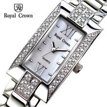 Royal Crown hongkong brand female women dress watches quartz watches women fashion crystal diamond stone watches luxury 3591