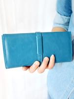 2013 sweet drawstring blue women's wallet long design wallet