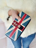 2013 girls sweet british style long design zipper wallet