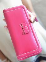 2013 bow women's wallet female long zipper design girls sweet wallet brief ol wallet