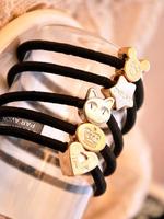 High quality hair accessory vintage metal kitten pentastar headband love hair rope