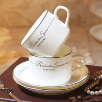 Fashion quality bone china coffee cup ceramic cup coffee cup and saucer spoon