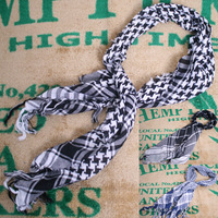 Vintage brief classic houndstooth series of spring and autumn all-match small scarf