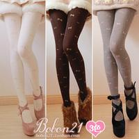 Bobon21 princess sweet lolita pantyhose warm thick winter soft amo little bow ac0942 thermal pantyhose 5 colors can choose