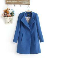 2013 winter fashion lily female wool coat wool o-neck brief slim woolen outerwear wool coat