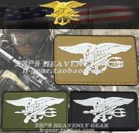 U.S. NAVY SEAL Logo Velcro Patches(BLACK,OD,DE)