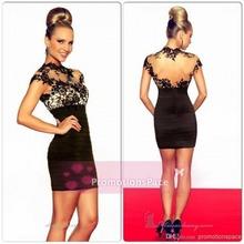 satin ruffle dress promotion