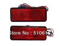 LED Rectangle Reflector Red Tail Brake Marker Light Trailer Running Brake Light