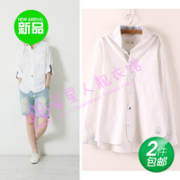 2014 shirt female long-sleeve shirt female 100% cotton long-sleeve shirt female long-sleeve