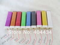 lipstick 2600mah Portable Power Bank External Battery Charger for iphone 5s iphone 5c iphone 5 Samsung S4 S3 mobile 200pcs