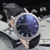 men mechanical watches automatic Calatrava Regulator black leather band luxury watch PP209