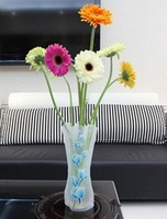 Folding Foldable Plastic PVC Flower Vase Home Decoration Mix Various Patterns and Styles