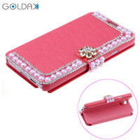 Luxury Bling Rhinestone Diamond for samsung galaxy note 3 n9000 wallet card holder cell mobile phone leather case cover