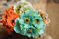 2lot/12pcs Vintage flannelet small daisy grackle fashion artificial silk flower artificial flower handmade diy material props