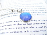 Big blue day gift butterfly wings jewelry fresh small pendant necklace