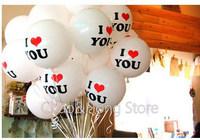 "Free shipping 12"" 100pcs/lot I LOVE YOU balloon wedding party ballon lovers' balloon Love Ceremony decor balloon B.F"