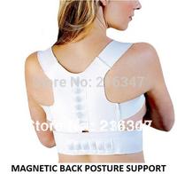 Free shipping Shoulder belt elastic leather white belt support back shoulder Magnetic Posture Support brace Corrector