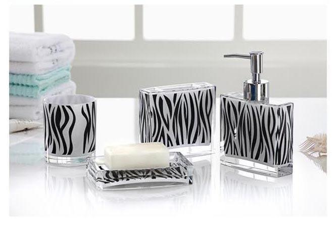 Zebra bathroom set