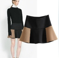2014 spring and summer double layer puff skirt bust skirt short skirt  female