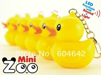 New cute key pendant Small yellow duck Keychain.