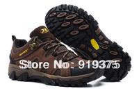 2014 new Men's Outdoor Athletic Non-slip Trekking shoes Waterproof Hiking Walking mountain shoes mens chameleon 5 storm gtx