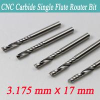 "5PCS 1/8"" single flute spiral CNC router bits Tools Cutting Cutting edge length: 17mm"