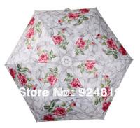 2014 new Free shipping top high-quality fashion romantic white rose ladies umbrella