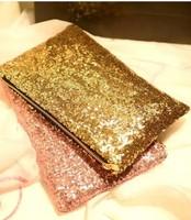 2014 new fashion luxury nightclub Street sequins women's messenger bags  lady tide handbags cosmetic clutch bag free shipping