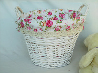 Post free handmade RATTAN WICKER storage basket of dirty clothes storage basket weaving basket, laundry basket pastoral