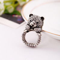 Fashion fashion accessories vintage bear women's elastic ring