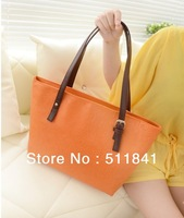free shipping, candy color trend vintage messenger bag women's handbag female PU fashion shoulder bag 5 color