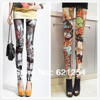 New! Korean Slim Gold Velvet Leggings Printed trousers for Female spring and summer Casual Basic Pants