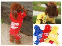 Pet Dog Cat Waterproof Raincoat  Fashionable Teddy Golden Retriever Rain Cape  Rain Coat Free Shipping