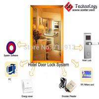 Cheapest price  RF Hotel door lock system   (1pc ET100RF  lock,1pc encoder ,5pcs cards,1pc switch, software)