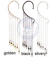 Clip Earrings ear rings Fashion for women Girl's lady unisex rivet tassel multi color desgin CN post