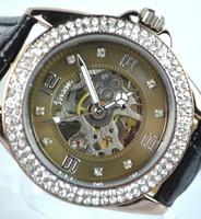 Post 2014 New Automatic Wrist Leather Mechanical Auto Steel Case Men's Watch Wrist Watch Free Shipping