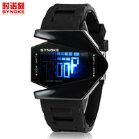Factory direct fighter aircraft cool LED watch fashion sports watches men women explosion models recommended W018