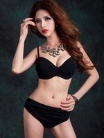 New Arrival Women Sexy Bikini Swimsuit Underwire Big Size And High Waist Pants Beach Sexy Swimwear XX-009