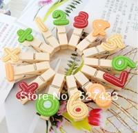 Free shipping 35mm  wooden clip  wedding mini wall photos clip supplies Nummber pegs 140pcs/lot
